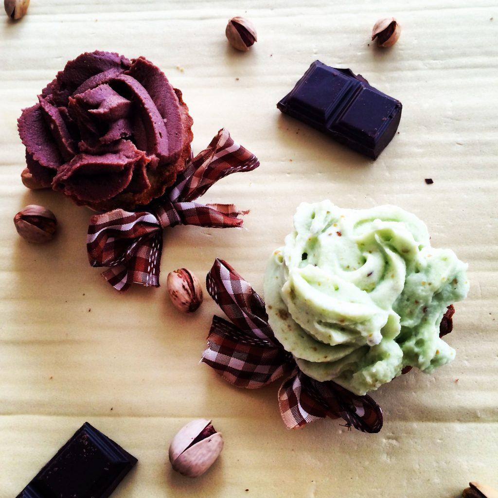 Cupcakes pistache chocolat
