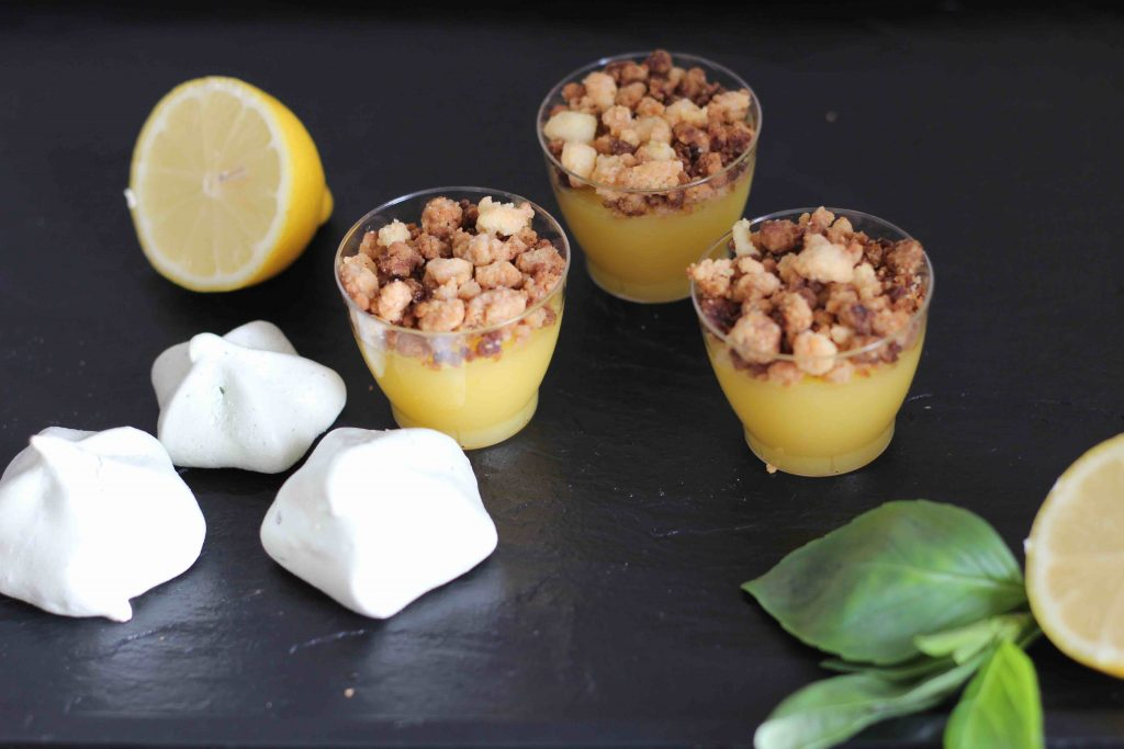 Mini crumble au lemon curd