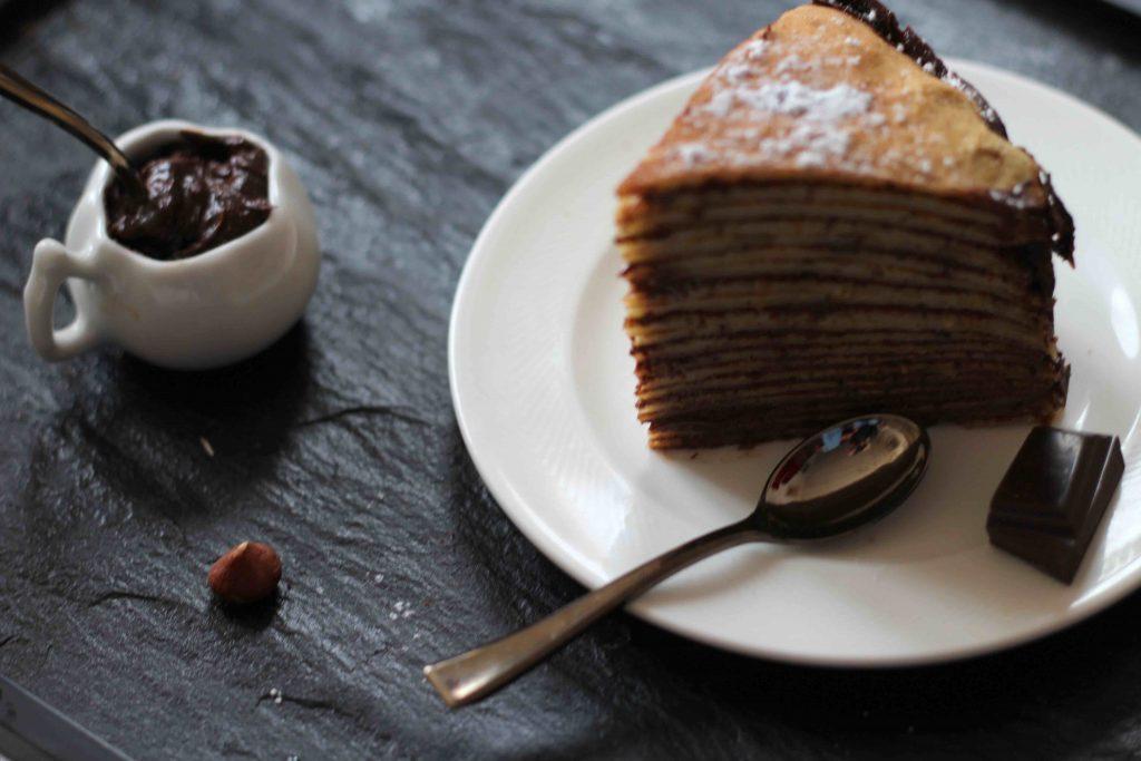 Gâteau de crêpes - chocolat & noisettes