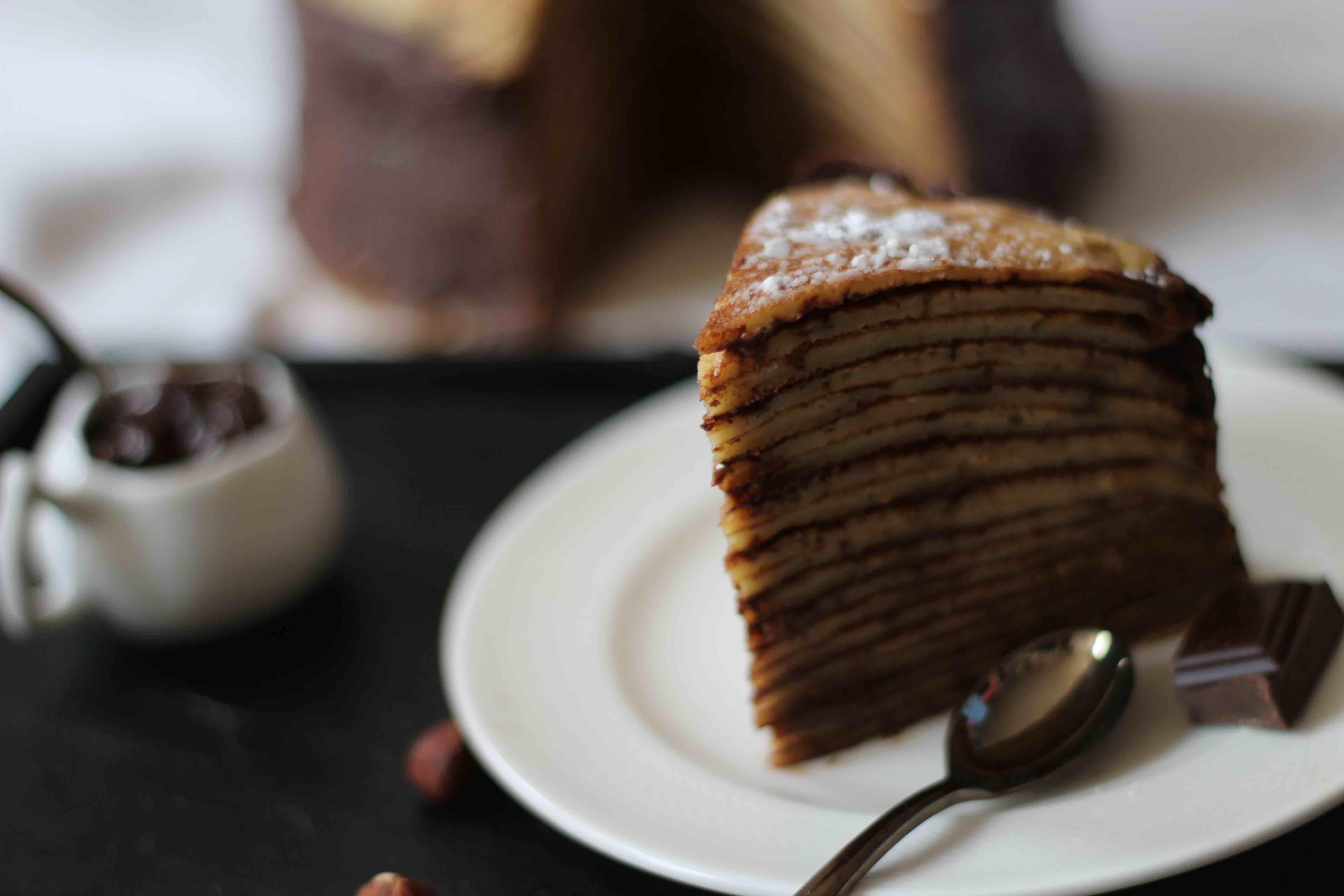 Gâteau de crêpes – chocolat & noisettes