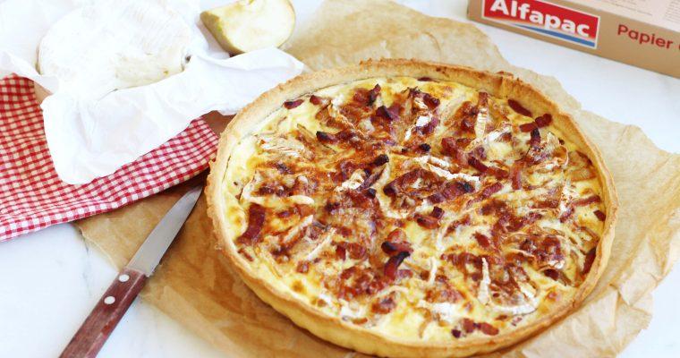 Quiche normande – Pomme, lardons, camembert (attention aux odeurs !)