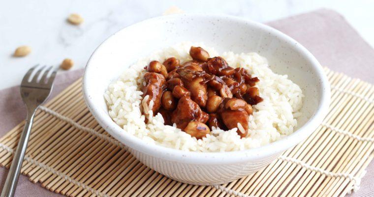 Poêlée de poulet aux cacahuètes