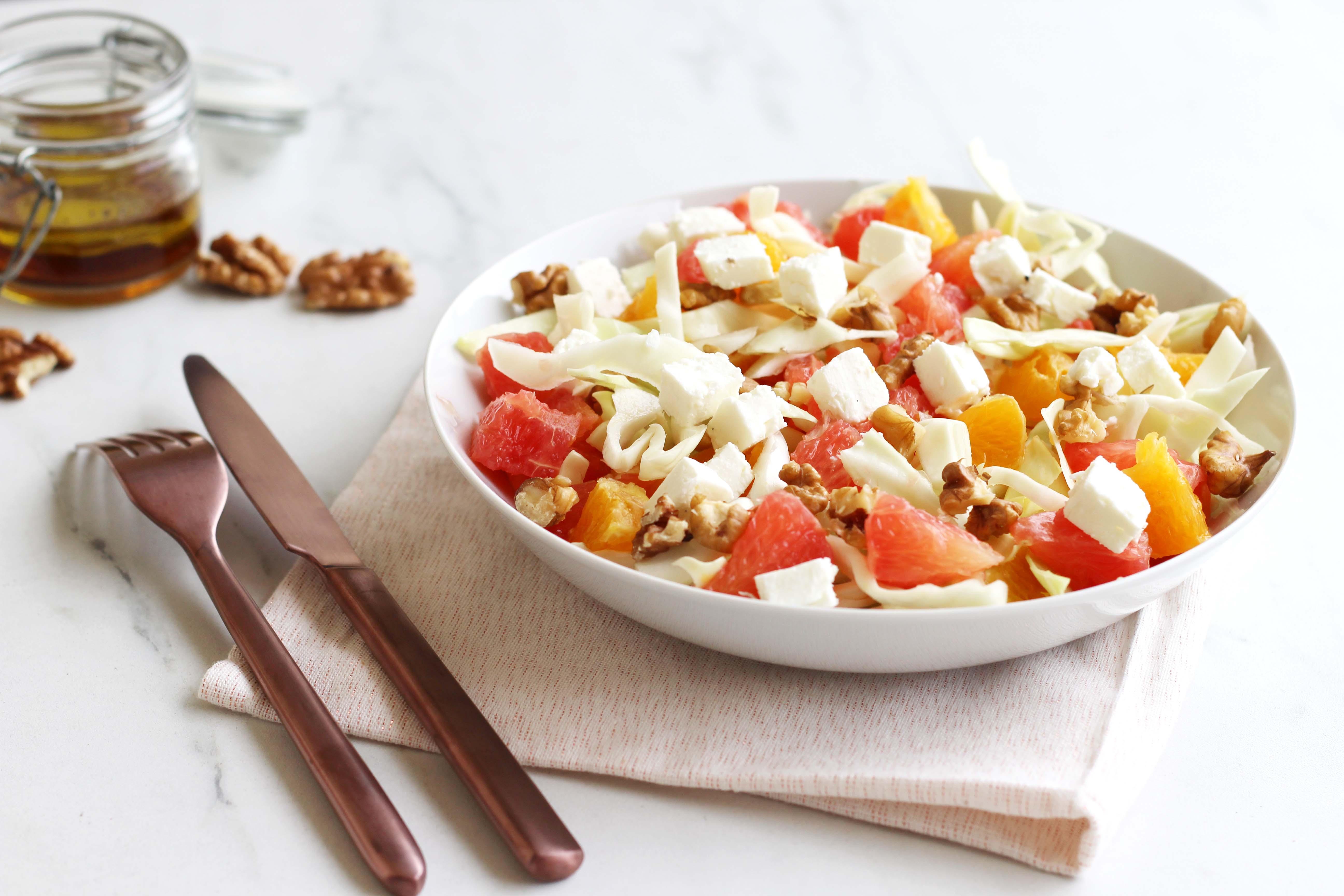 Salade de chou aux agrumes