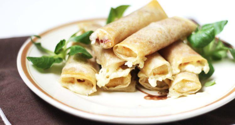 Cigares au fromage de raclette et jambon cru