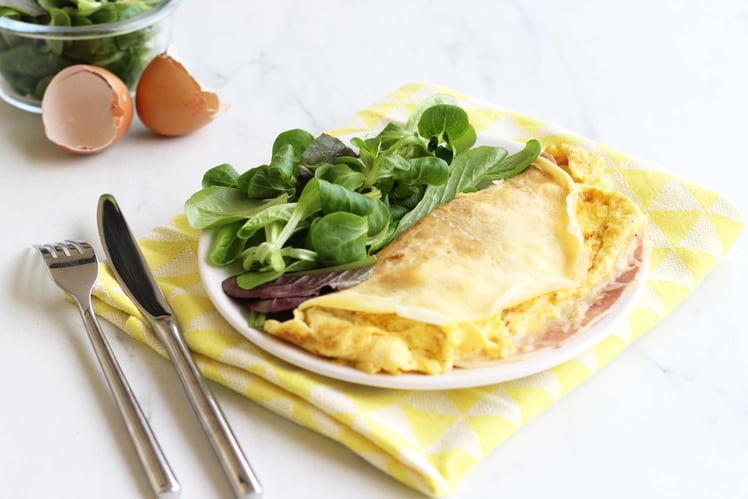 Crêpe omelette au jambon