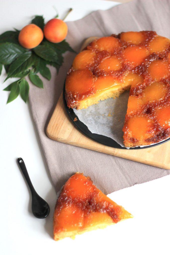 Gâteau renversé à l'abricot 2