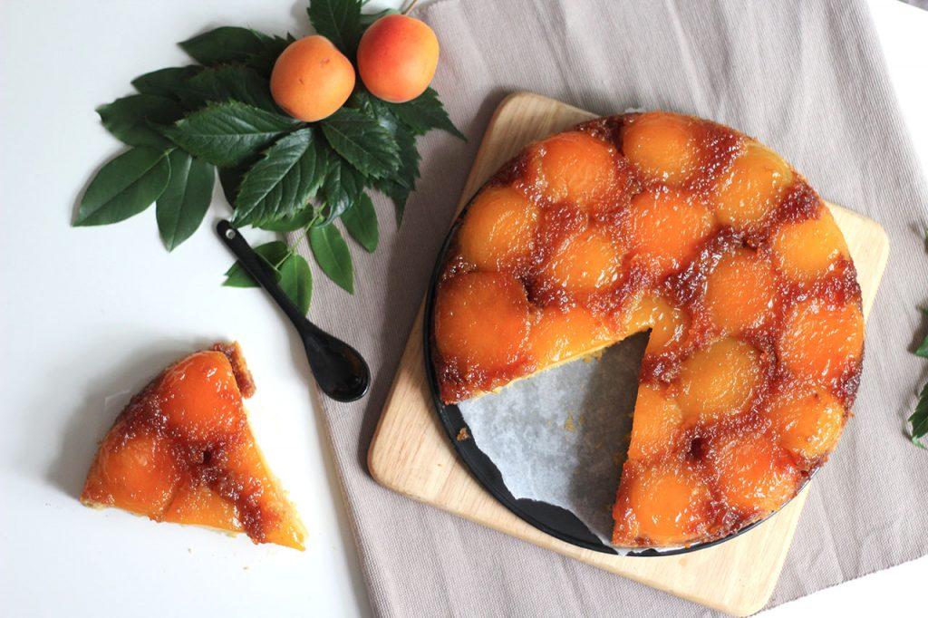 Gâteau renversé à l'abricot 4