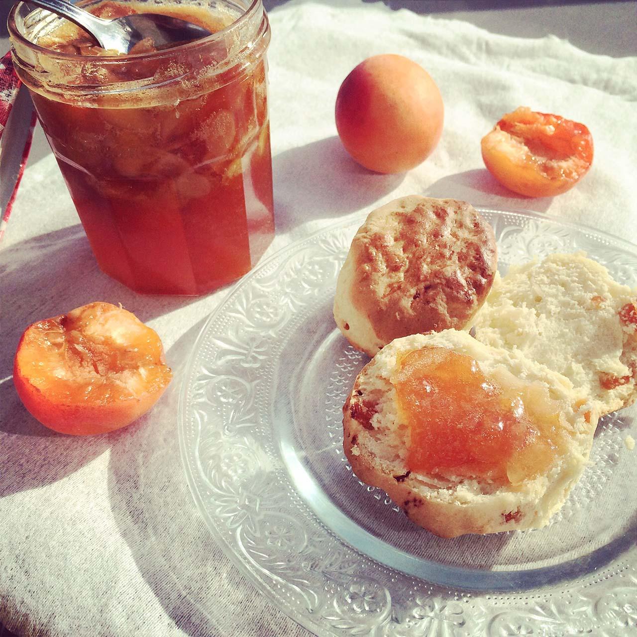 Scones aux abricots et amandes