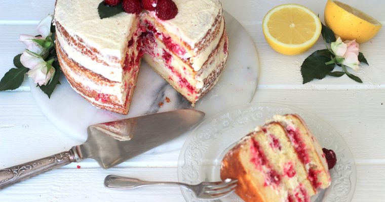 Layer cake citron & framboise