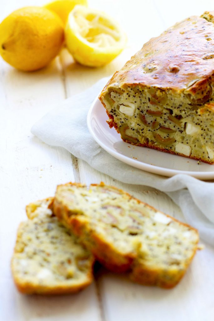 Cake aux olives, citron, pavot et feta 3