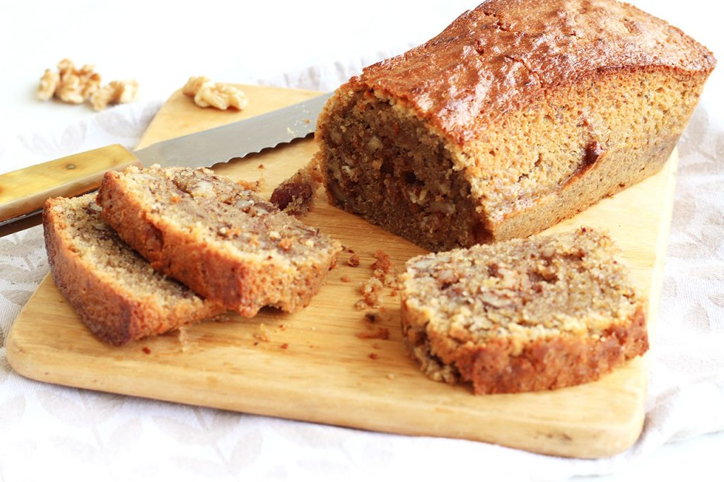 Cake fondant aux noix et au café 2