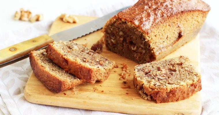 Cake fondant aux noix et au café