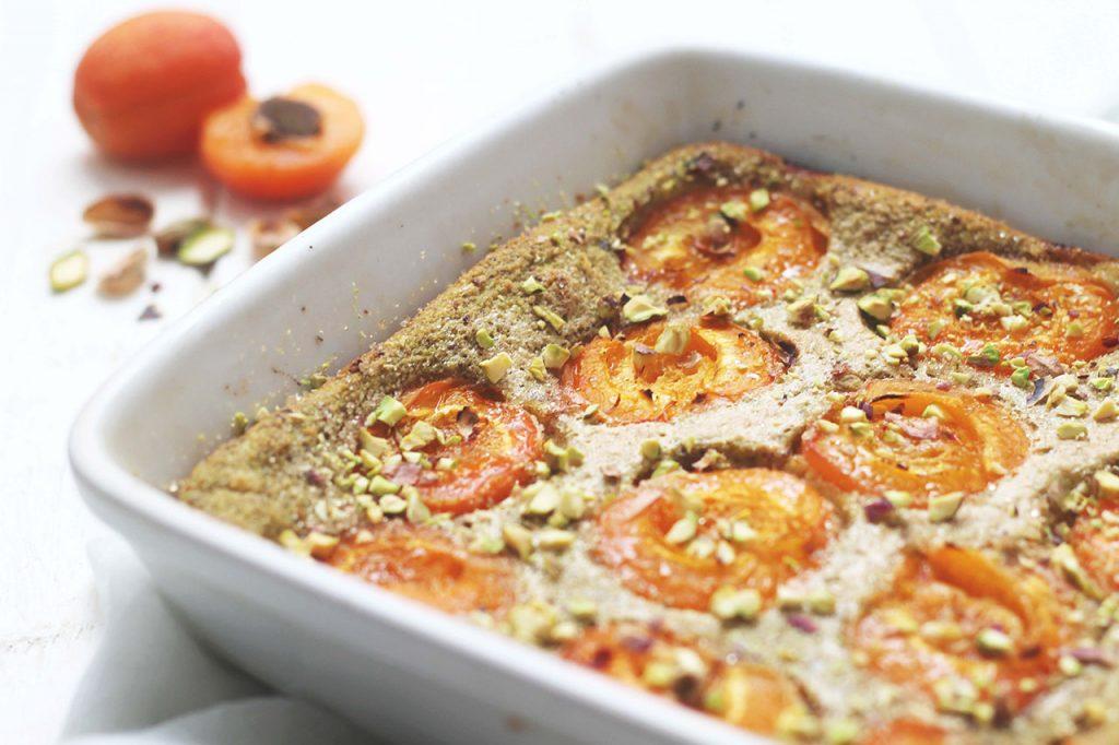 Clafoutis aux abricots et pistache 3