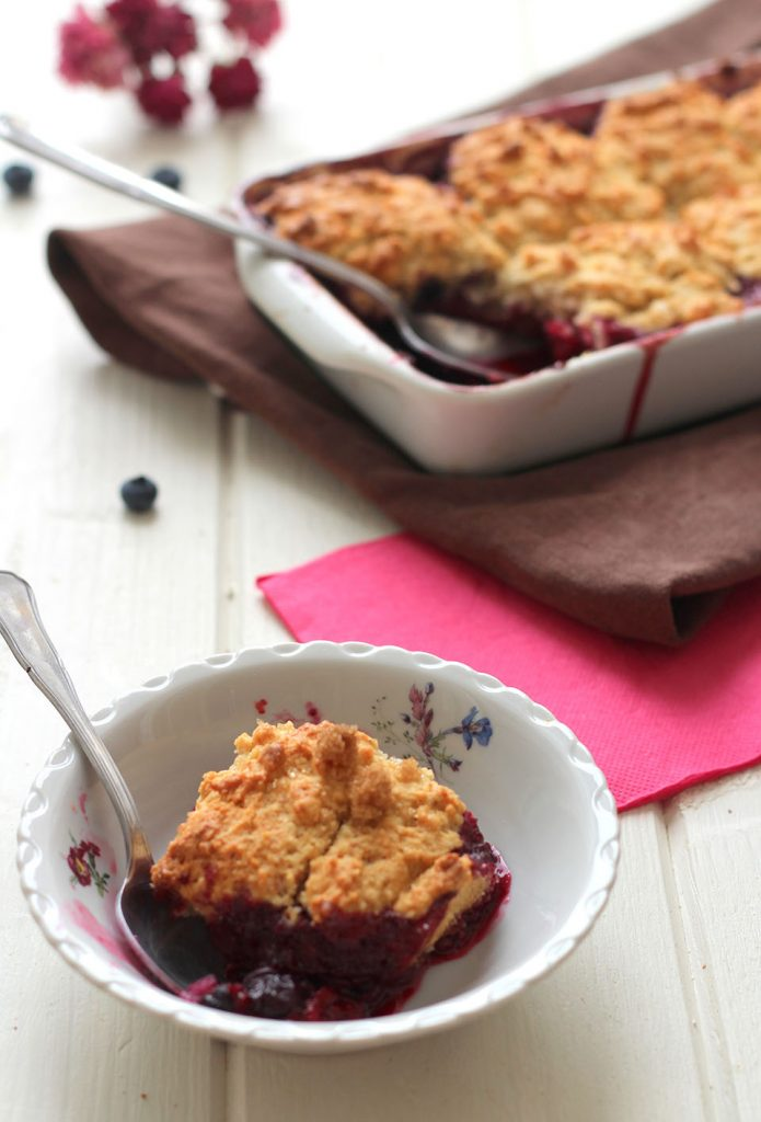 Cobbler aux fruits rouges 2
