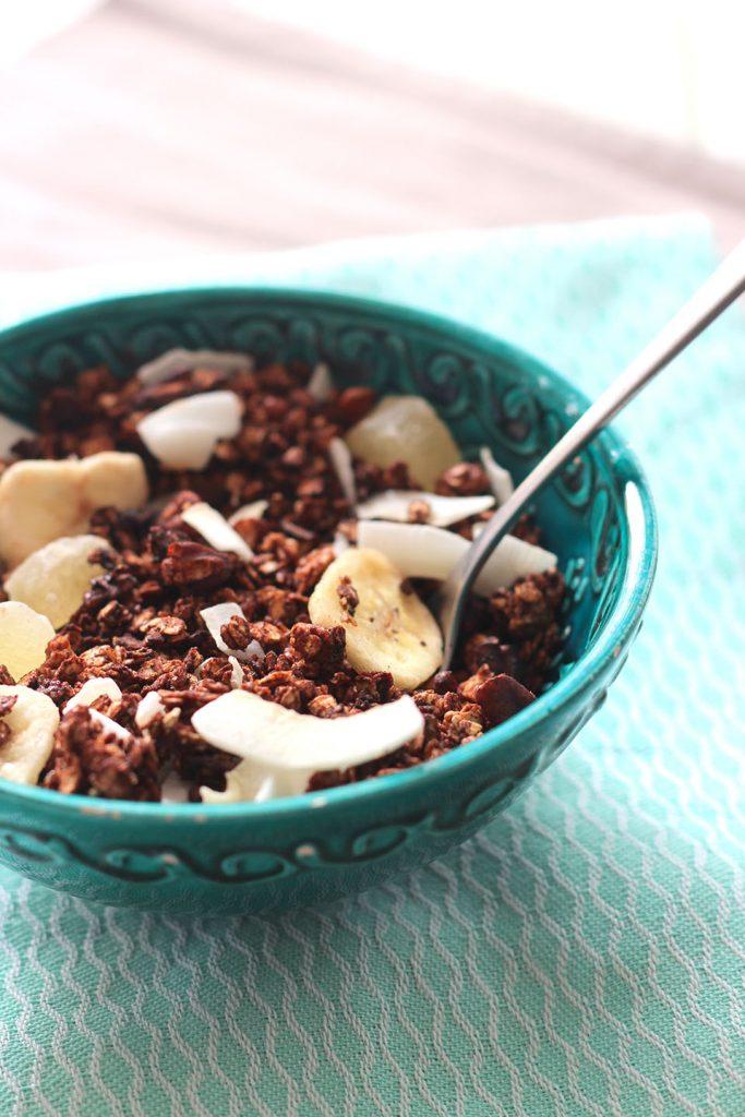 Granola au chocolat et aux fruits secs 2