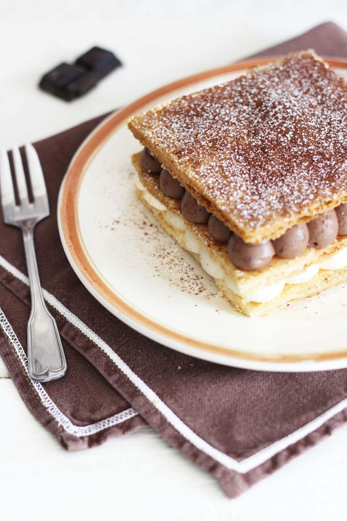 Millefeuille vanille et chocolat 2