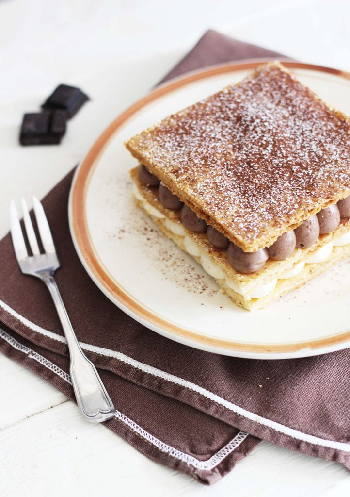Millefeuille vanille et chocolat