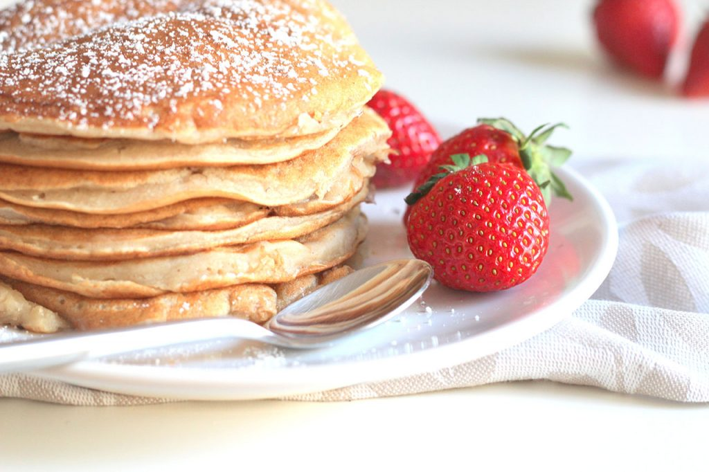 Pancakes aux pommes vegan