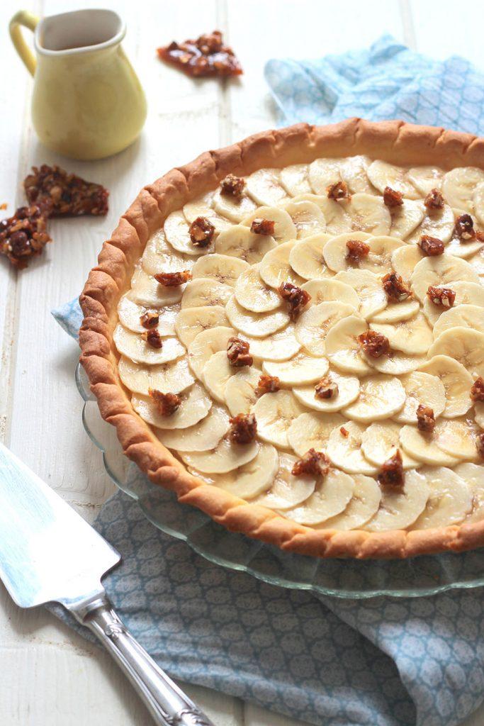Tarte à la banane, noix de coco et caramel 3