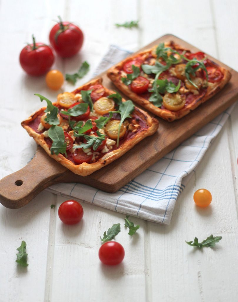 Tarte fine à la tomate et chorizo 3