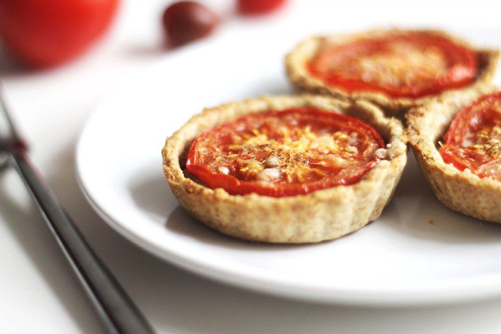 Tartelettes aux tomates et caviar d'aubergine 3