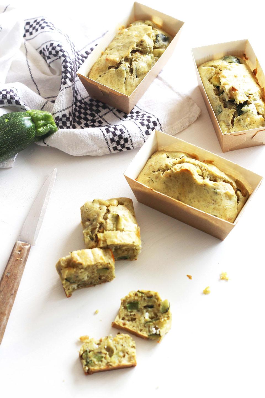 Cakes de courgette au pesto et chèvre 2
