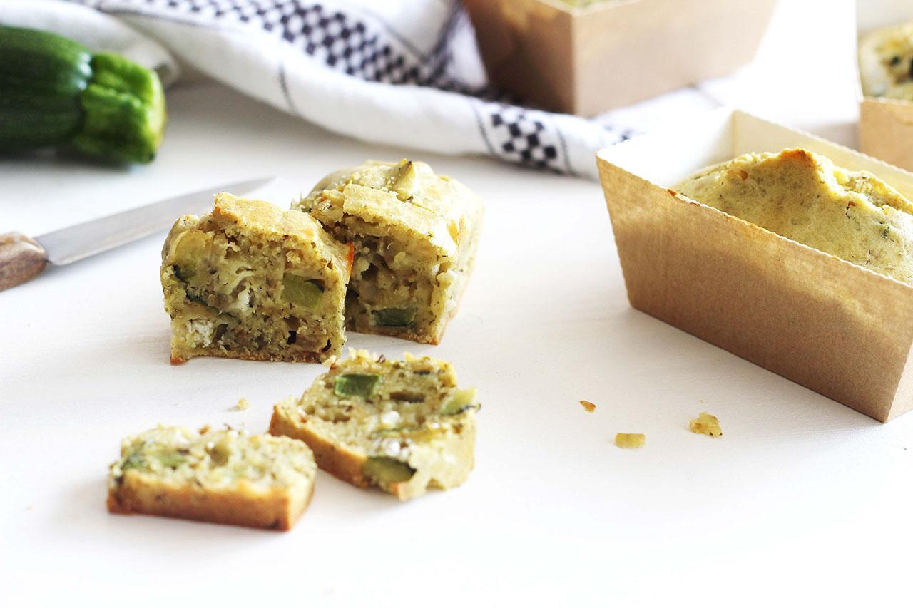 Cakes de courgette au pesto et chèvre 3