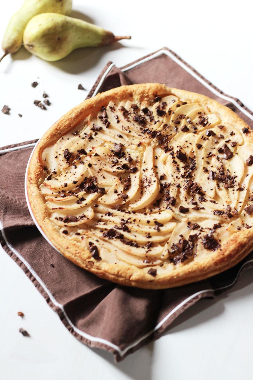 Tarte fine à la poire et chocolat 2
